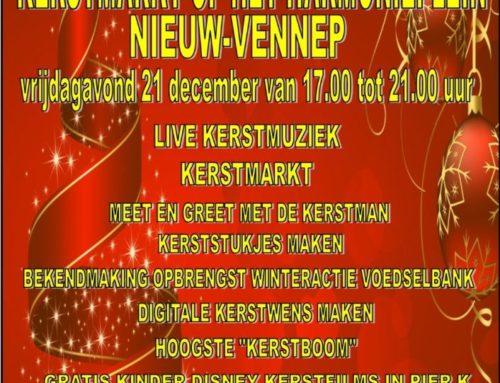 Vrijdagavond 21 December van 17.00 tot 21.00 Kerstmarkt.